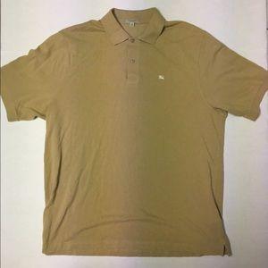 Burberry Sand Color Polo Shirt Classic - Mens -XXL